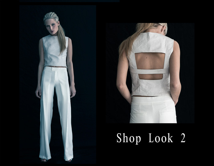 TOP ONLY: Snake Backless Crop Top / SILVER / 0-2-4-6-8-10 / $140