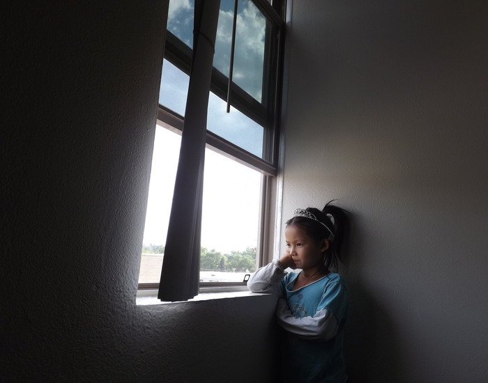 """PMH Participant Maria told us,""""This photo is about my sister. She looks out window. She want to be like princess Diana."""" (Photo by Maria Mu)"""