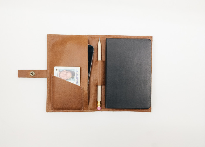 Leatherback Writer in Whiskey. Fits Moleskine, Field Notes or other notebooks.