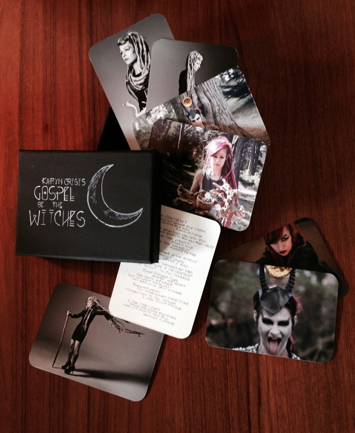 Karyn Crisis photo set and handmade lyric cards with box
