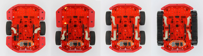 Wheels of fortune: Centre drive, rear drive, skid steering and tank tracks.