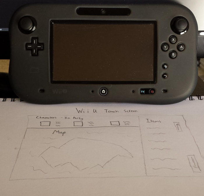 Wii U Gamepad Touch Screen Panning.