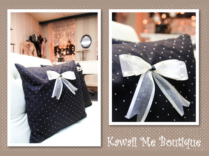 polka dot pillows (mix and match option)