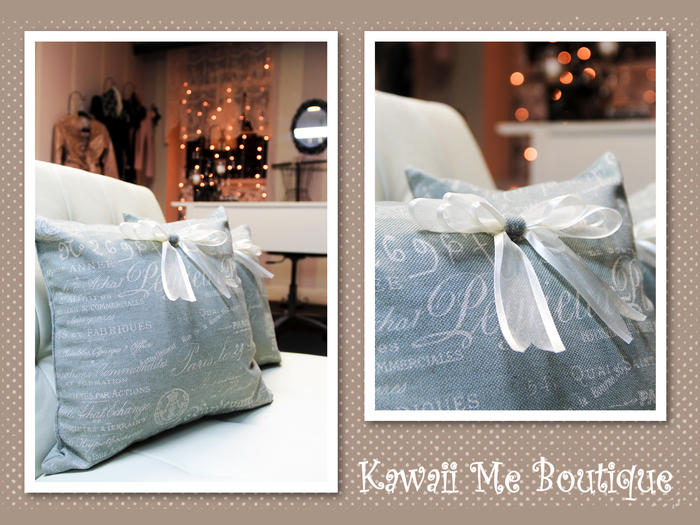 grey-green pillows (mix and match option)