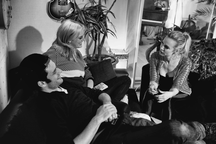 Gracie Otto and Ben Winspear on set with Sami. Photography by Mel Anderson.