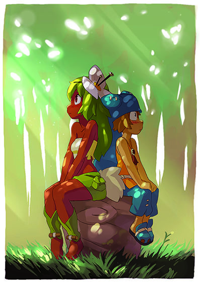 """Yugo and Amalia"" by Guillaume Duchemin, character designer on Wakfu Season 2, Treasures of Kerub, and Wakfu Special Episodes"