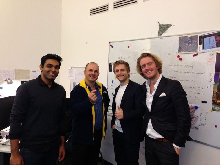 From left to right: Prashant, Shai, Tobias & Ulrich