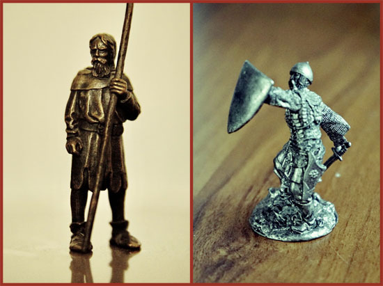 Sample tin soldiers. (Click for the full size version)