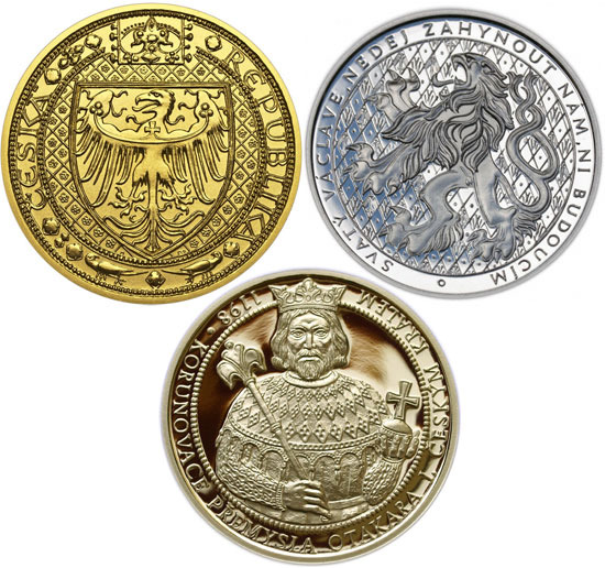 Coin designs from Martin Reichard for Prague Mint. (Click for the full size version)