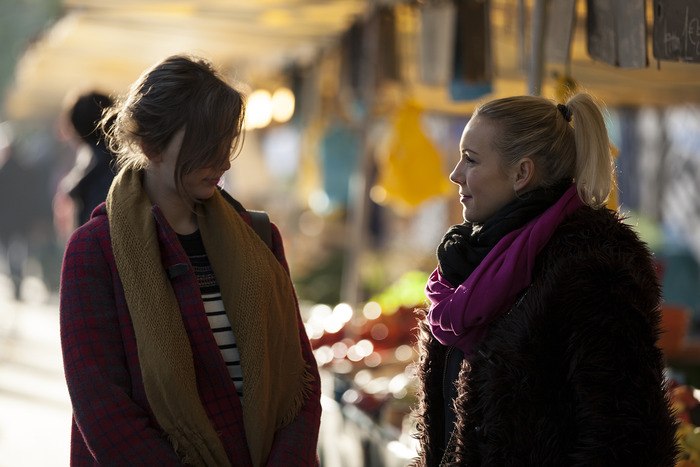 Stella and Bianca au marché. Photo by Philip Erbacher.