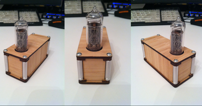 Standoffs enclosure for Nixie tubes