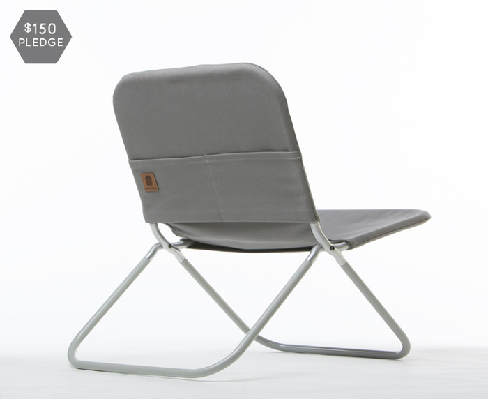 One #8 duck Martexin waxed canvas chair. Your choice of black, grey or olive.