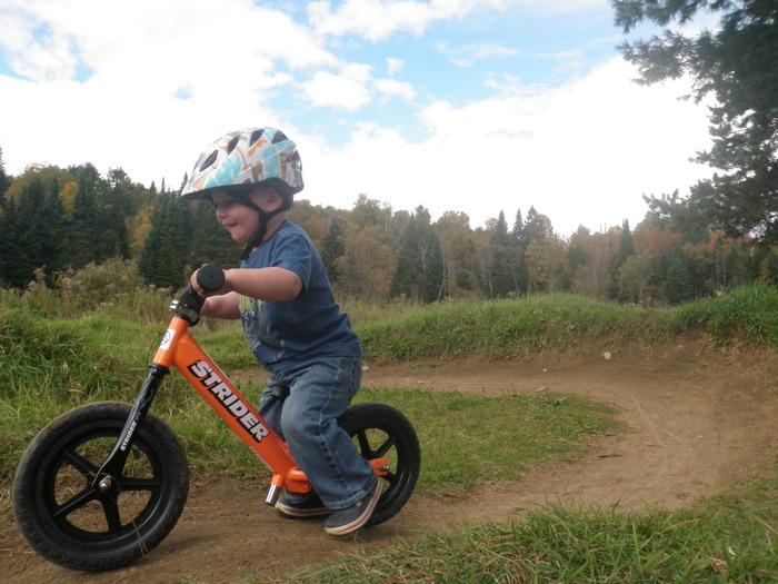 Axel and his Strider balance bike