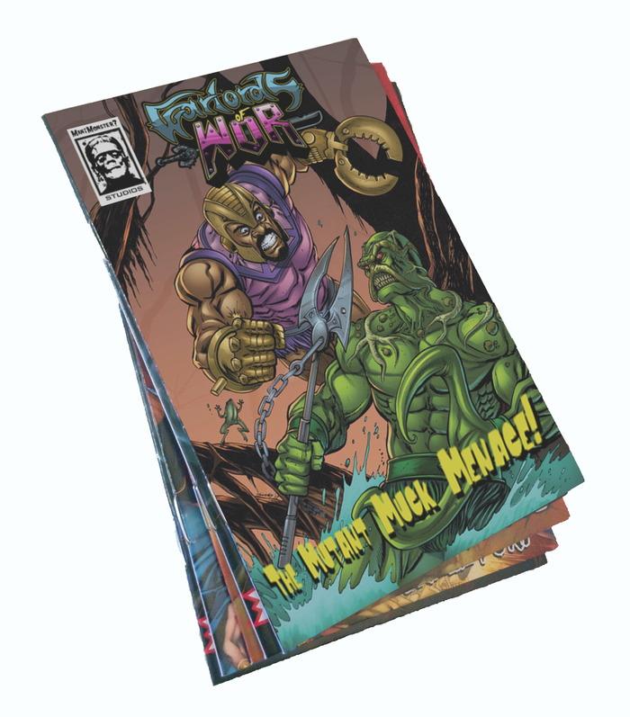 Mock-up of the printed mini comics