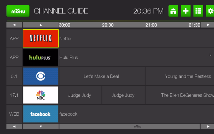 Combine all your favorite video content into a single, neatly organized Personal Channel Guide! (Actual screen shot)