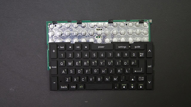 "Our first prototype keyboard. The ""touch"" was all wrong so we had to start over."