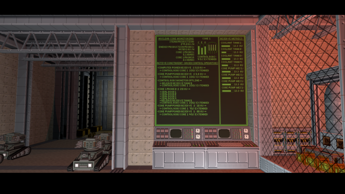 Computer interface which is utilized here to monitor reactor
