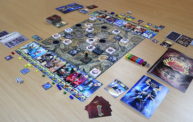 Demigods Rising game setup - 2 players - Tactics mode - 15 points