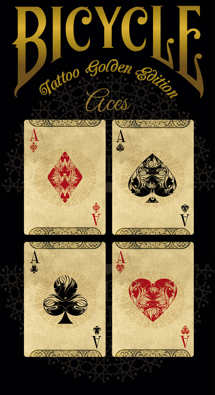 Bicycle® TATTOO Golden Edition Playing Cards By Phoenix