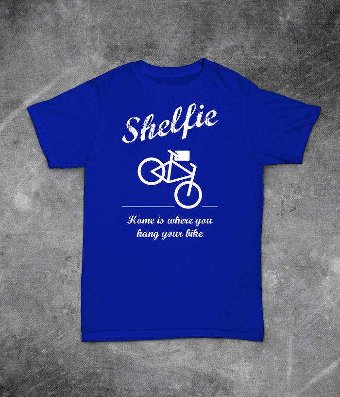 """Home is where you hang your bike"" T-Shirt"