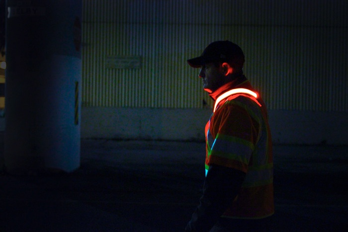 Reflectives only provide visibility when a light source is present.  The Halo Belt 2.0 illuminates to create awareness for its user in complete darkness.