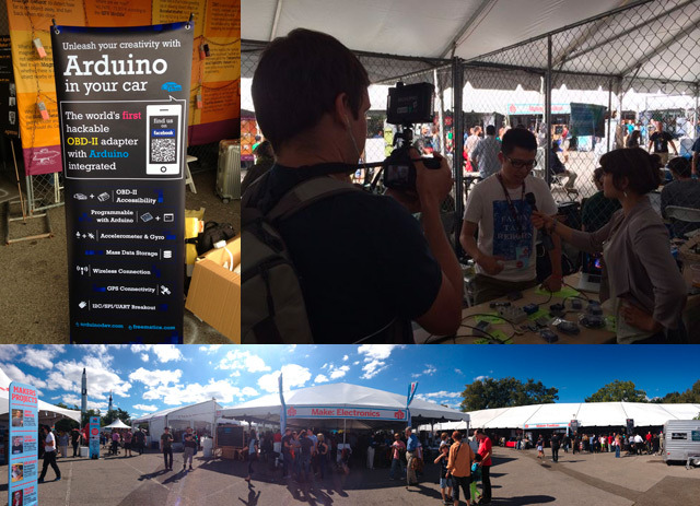 Exhibited the project at the World Maker Faire in NYC (Sept 2013)