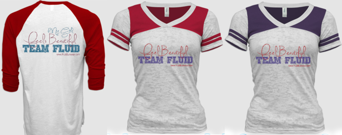 Team Fluid Men's (S, M, L, XL; Cardinal/White with back imprint) & Women's Jerseys (S, M, L, XL; Cardinal/White or Royal Purple/White with front imprint)