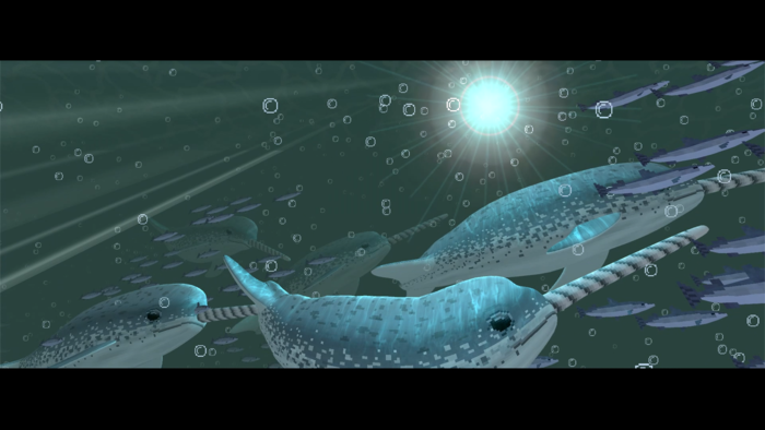 A lively underwater environment complete with harvestable resources and animal life is planned