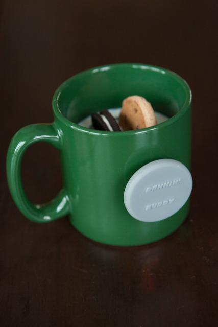 Dunkin' Buddy in a thick green mug