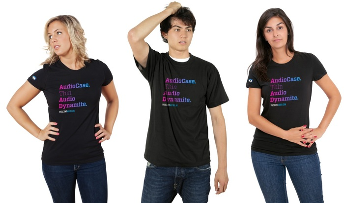 """Get your """" AudioCase, Thin Audio Dynamite"""" T-Shirt Included with $29 Pledge!"""