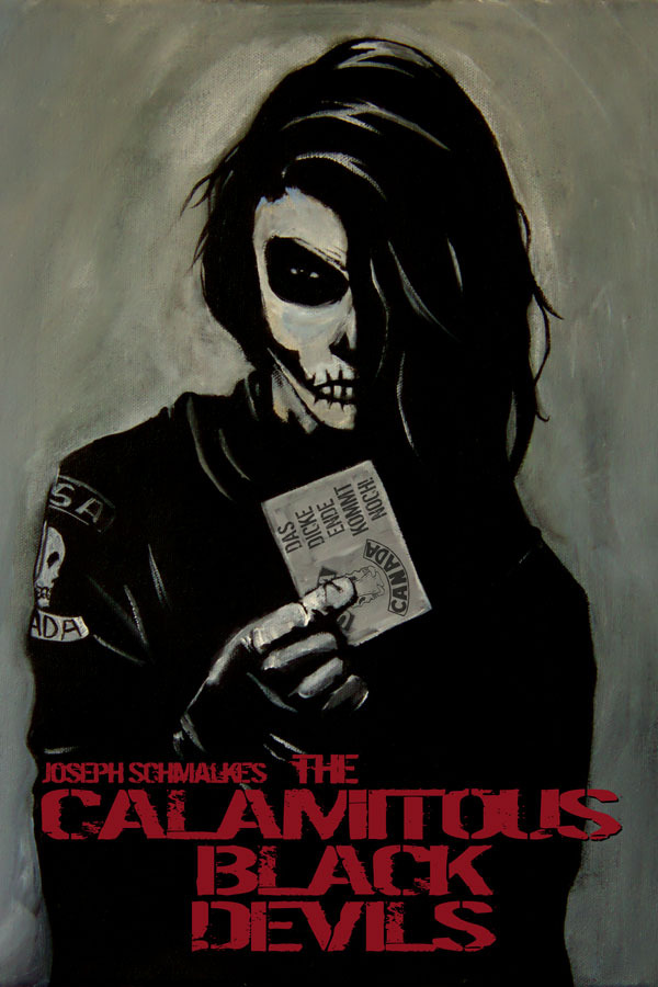 Cover to the Calamitous Black Devils graphic Novel.