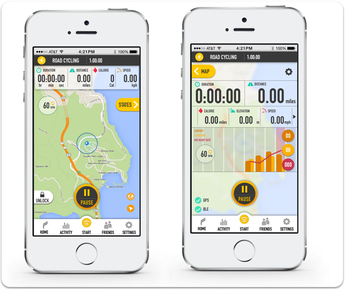 Real-time GPS map & Stats