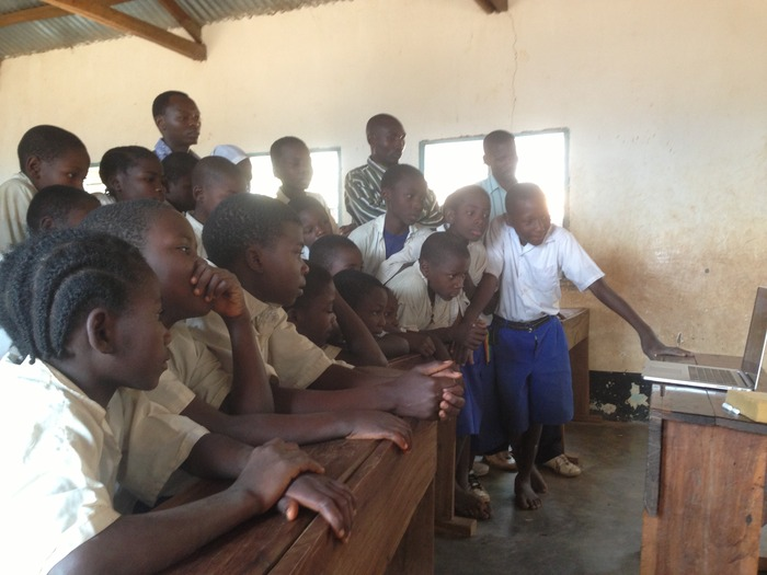 Test screening in a rural school, Kigoma Region