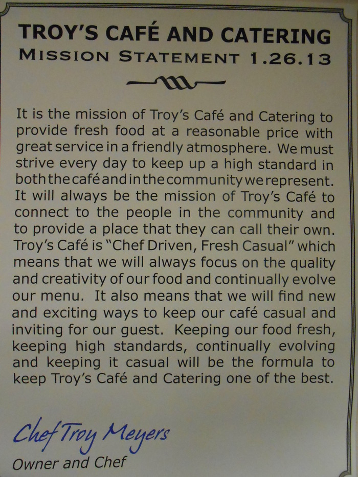 Our mission statement, we look at it every day.