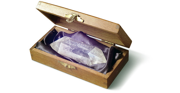 This awesome crystal with your name engraved in it comes in a neat wooden box and could be yours if you want it! Check out the Crystal Edition!