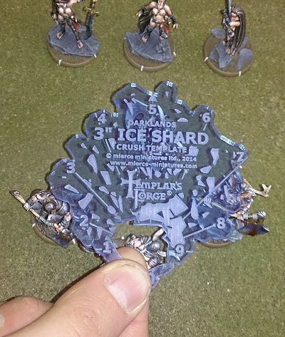 "3"" Ice Shard Crush Template (used by Vaak, the Moraine-Beast)"
