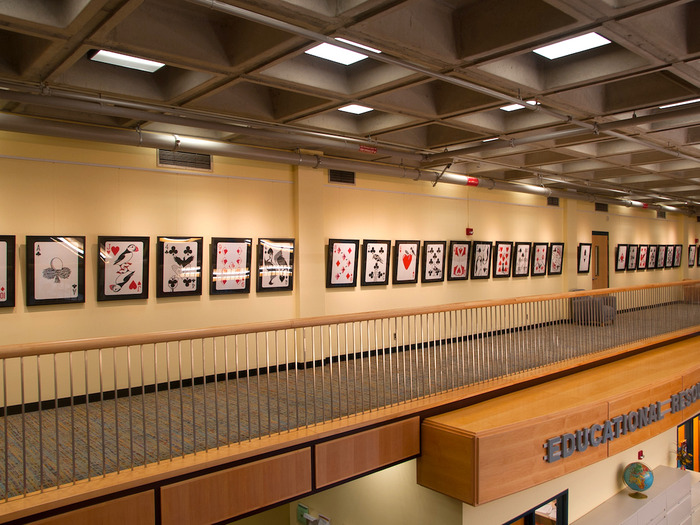 Last year, the entire Clipped Wings deck was on display at Bridgewater State University, MA.
