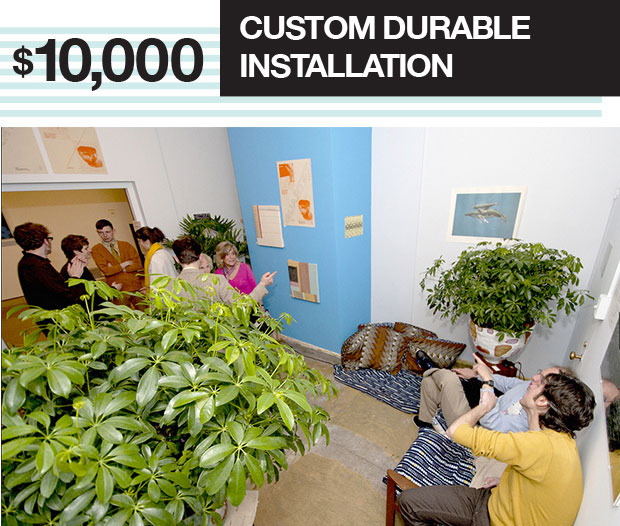 Data Garden artists will install a custom durable installation in your space. Travel and accommodation for two for a period of 3 days is required if taking place outside a 50 mile radius of Philadelphia.