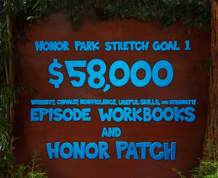 Each episode will have a comicbook-esk excercise book for dudes/dudettes to complete with their Honor Mentor. Upon completion of all 5, they will be awarded the awesome Honor Patch!