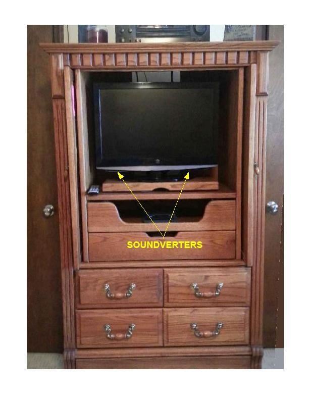 Flat Screen in a entertainment hutch