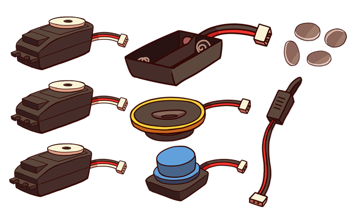 Electronics Pack  (illustration only, not all materials are depicted)