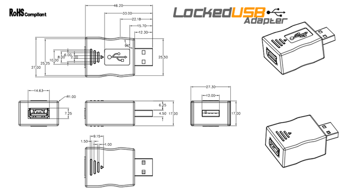 LockedUSB Adapter Final Drawing