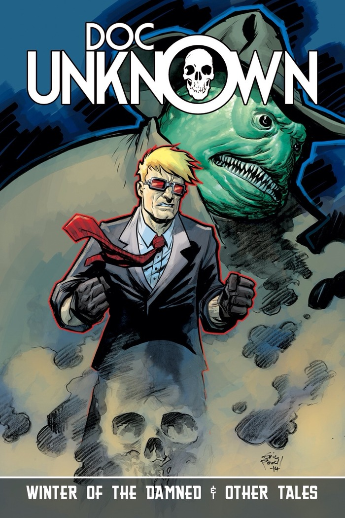DOC UNKNOWN: Winter of the Damned & other tales features a cover from The Goon's ERIC POWELL! (This cover is also available as a print reward)
