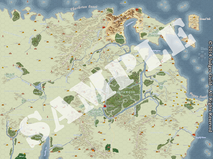 Sample of Campaign Map I: The City State showing ~50% completion
