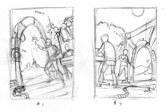 A BRAC squad sets up a Breach Closure Device. Concept art by Mike Wilson.