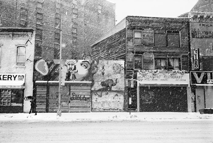 A gift of $250: A print of Fashion Moda, 2803 3rd Avenue near 147th St. South Bronx, 1989, by Michael Kamber