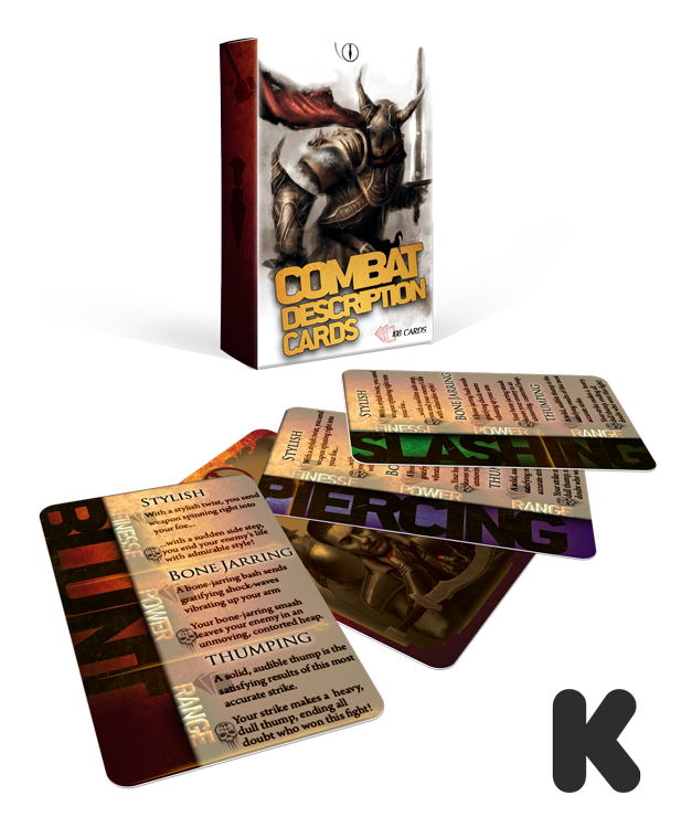 Combat Description Cards for Storytellers and GMs