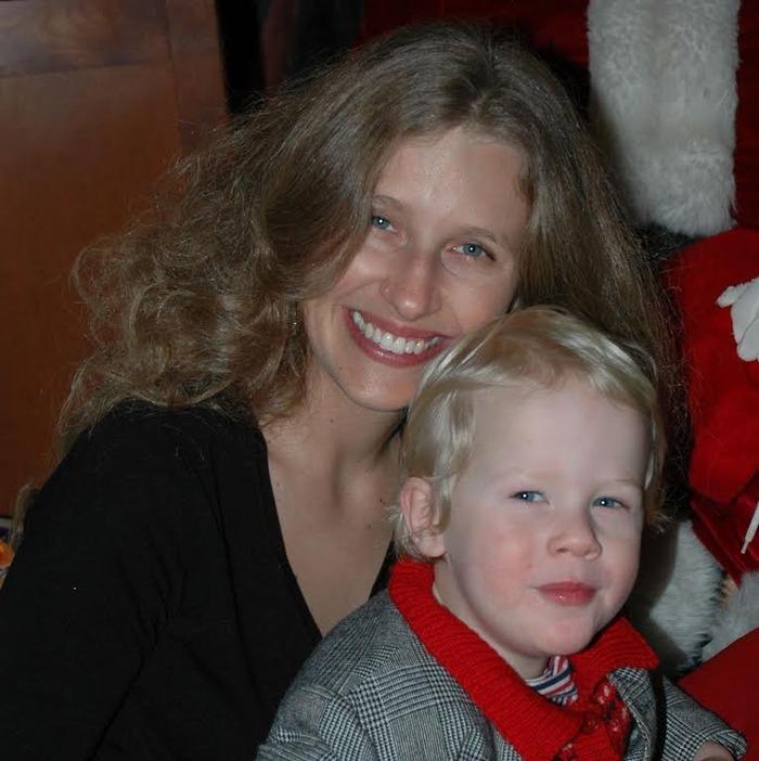 Liz Gill Neilson with her son, Sebastian