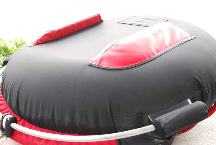 Foam sponsons on the bottom of the tube are safe for both riders and your boats interior.