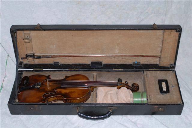 Akira Ifukube's Personal Violin. Photo Courtesy Erik Homenick at www.akiraifukube.org